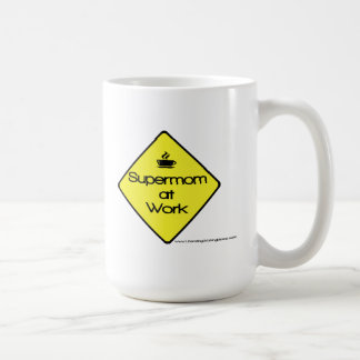 Supermom at Work Basic White Mug