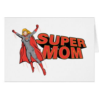 Supermom Greeting Card