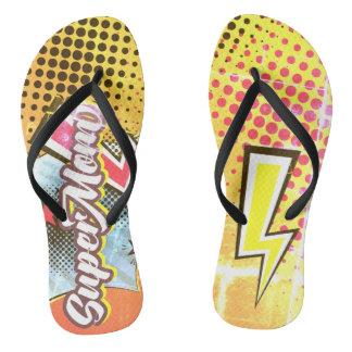 SuperMOM gift beach sandals flip flops mom VINTAGE