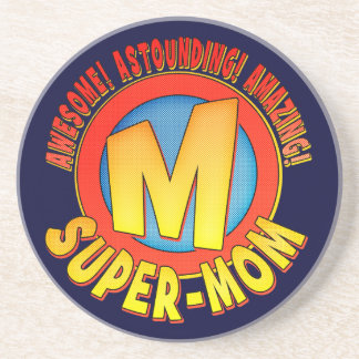 Supermom Mother's Day Sandstone Drink Coaster