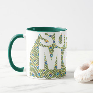 SuperMom Peacock 3D Pattern Mug