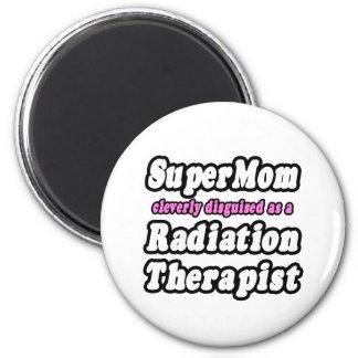 SuperMom...Radiation Therapist 6 Cm Round Magnet
