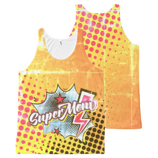 SuperMOM tank top gift, comic style VINTAGE