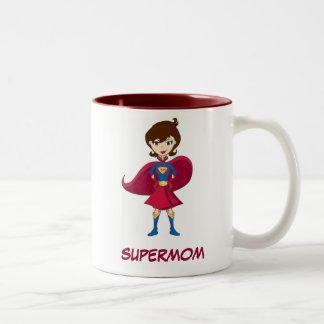 SUPERMOM Two-Tone MUG