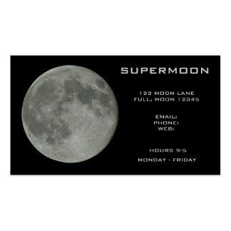 Supermoon Full Moon Night Sky Business Card