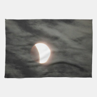 Supermoon Lunar Eclipse in Clouds Tea Towel