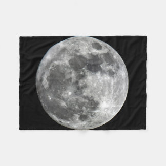 Supermoon Moon Fleece Blanket