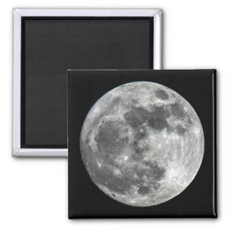 Supermoon Moon Square Magnet