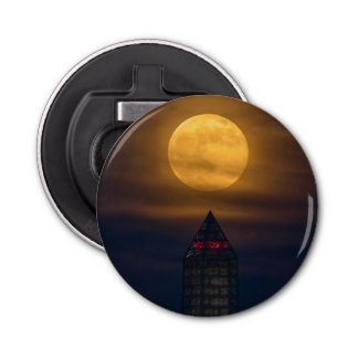Supermoon Over Washington Monument Bottle Opener