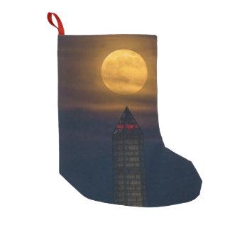 Supermoon Over Washington Monument Small Christmas Stocking