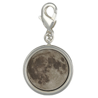 Supermoon Round Charm (Silver Plated)