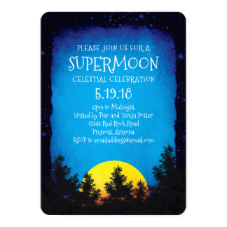 Supermoon Viewing Party Card