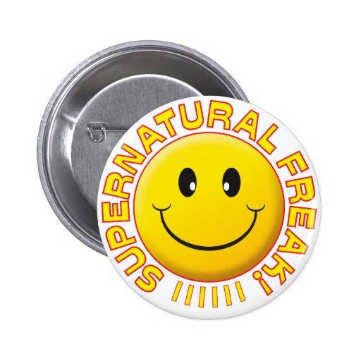 Supernatural Freak Smile Pinback Button