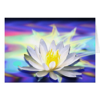 Supernatural Lotus Greeting Card