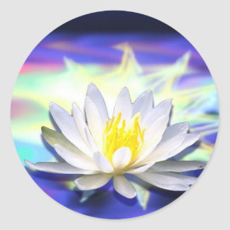 Supernatural Lotus Round Sticker