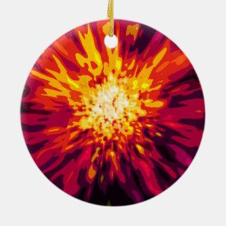 Supernova Blast Round Ceramic Decoration