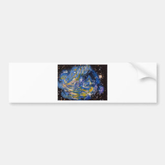 Supernova blue bumper sticker