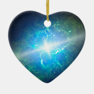 Supernova Ceramic Heart Decoration
