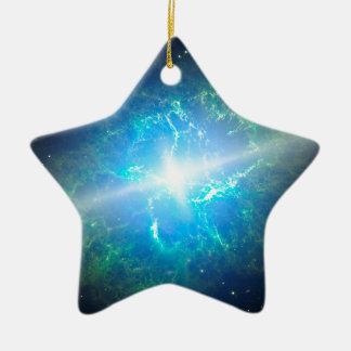 Supernova Ceramic Star Decoration