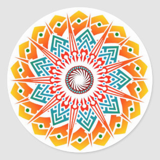 Supernova Flower Fire Sticker