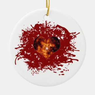Supernova Heart Galaxy Ceramic Ornament