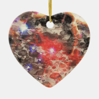 Supernova Remnant Ceramic Heart Decoration