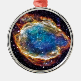 Supernova Remnant G299.2-2.9 Silver-Colored Round Decoration