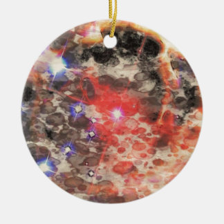 Supernova Remnant Round Ceramic Decoration