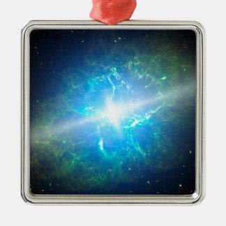 Supernova Silver-Colored Square Decoration