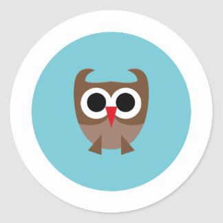 SuperOwl2 Classic Round Sticker
