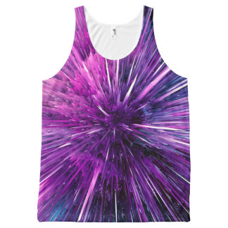 supersonic abstract All-Over print singlet
