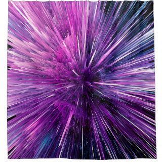 supersonic abstract shower curtain
