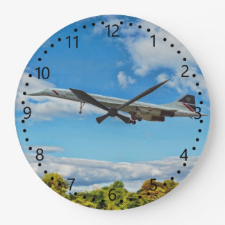 Supersonic Concorde G-BOAB Number/minute dial Large Clock