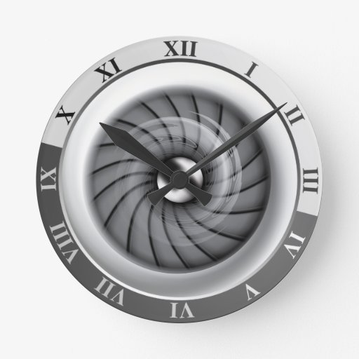 Supersonic Jet Engine Wall Clock
