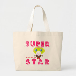 SuperStar 2-Cute Monkey-Morocko Large Tote Bag
