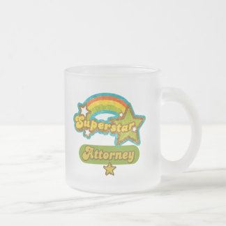 Superstar Attorney Frosted Glass Mug