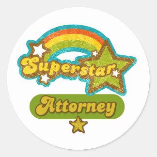 Superstar Attorney Stickers
