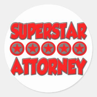 Superstar Attorney Sticker