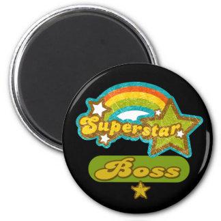 Superstar Boss 6 Cm Round Magnet