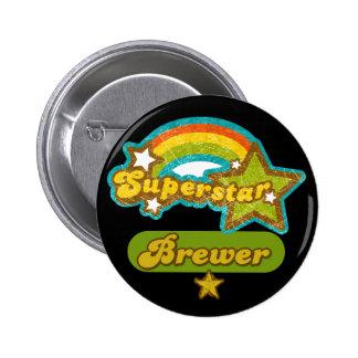 Superstar Brewer Pinback Button