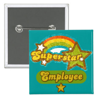 Superstar Employee 15 Cm Square Badge