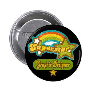 Superstar Graphic Designer Pins
