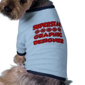 Superstar Graphic Designer Dog T-shirt