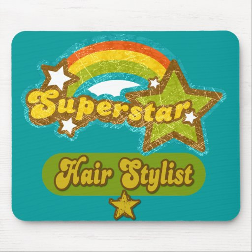 Superstar Hair Stylist Mouse Pads