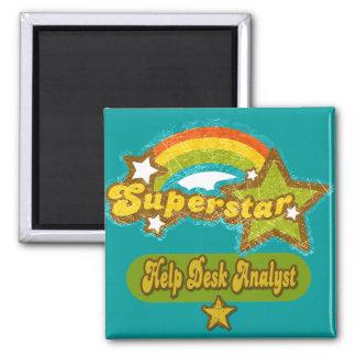 Superstar Help Desk Analyst Refrigerator Magnets