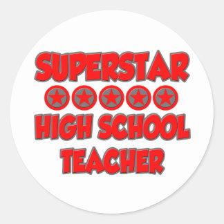 Superstar High School Teacher Sticker