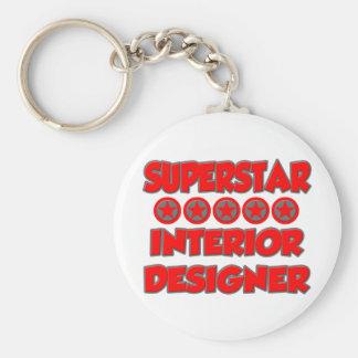 Superstar Interior Designer Basic Round Button Key Ring