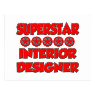 Superstar Interior Designer Postcard