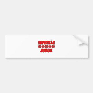 Superstar Judge Bumper Sticker