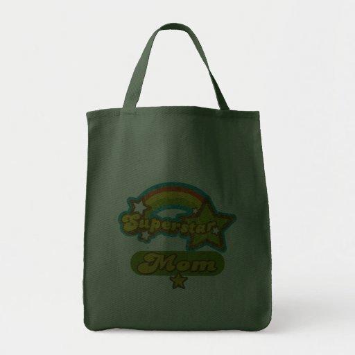 SuperStar Mum Grocery Tote Bag
